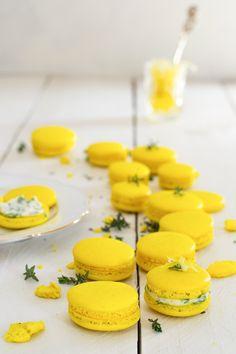 ... ricotta thyme and lemon confit macarons ...