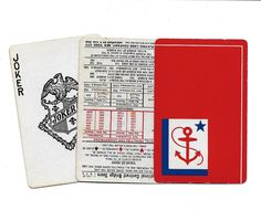 Vintage Arden Playing Cards Anchors Away Russell Playing Card Co New York no 127 W4843 with original box by esmeelynne on Etsy