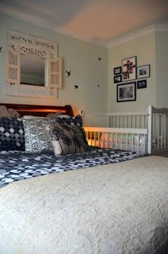 Nursery and baby organization on pinterest shared bedrooms nurseries and cribs Master bedroom plus nursery