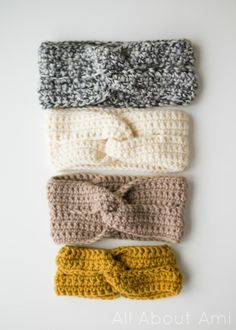 Crochet this chic twist headband by All About Ami with Lion's Pride Woolspun! Free pattern available in multiple sizes, made with just one ball!