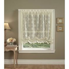 Hopewell Lace Balloon Shade Cream By The Curtain Shop, Http://www.