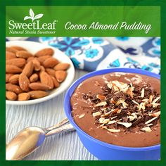 Chocolaty and delicious! Give our Cocoa Almond Pudding a go!   SweetLeaf Stevia   Featured SweetLeaf Recipes   #sweetleafstevia #stevia #recipes #sugarfree