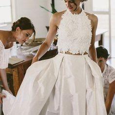dress, wedding dress, lace wedding dress, lace dress, halter dress, two piece dress, long dress, two piece wedding dress, long lace dress, pleated dress, wedding dress lace, two piece lace dress, dress wedding, lace two piece dress, lace long dress, halter wedding dress