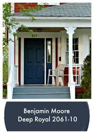 This classic navy blue front door – currently trending as a popular colour for home decor – will create timeless appeal to your traditional or modern home. Previous Post Next Post Exterior House Colors, Exterior Doors, Entry Doors, Exterior Remodel, Exterior Paint, Front Door Paint Colors, Painted Front Doors, Paint Colours, House Front Door