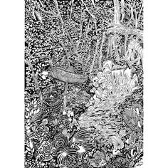 【mooongom】さんのInstagramの写真をピンしています。《#그림#펜화#일러스트#손그림 #시그노#볼펜#드로잉#라인드로잉 #drawing#illust#illustration #ballpointpen#penart#artwork #sketch#lineart#dark#ink#black #forest#wood#deep#natural #environment#eco#林#森#自然  2017 1st Artwork. 숲(林)》
