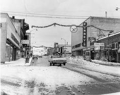 Looking north at 9th and Main, Vancouver, Wa. 12-21-1964
