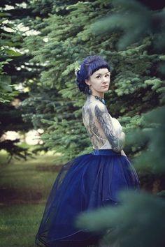 beautiful girl tattoo model