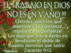 JESUS PODEROSO GUERRERO: El trabajo en Dios no es en vano