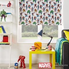 Disney Collection Marvel Avengers Blackout Roller Blind in Red/Green/Multicoloured. This Blackout Roller Blind includes guarantee and child safety features. Blinds For Windows, Window Blinds, Vertical Blind Slats, Electric Rollers, Made To Measure Blinds, Blackout Blinds, Disney Home, Roller Blinds, Window Coverings