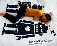 Bettwäsche selbst gestaltet und genäht von Funkytime