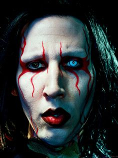 Marilyn Manson poses for a Holy Wood promotional shoot