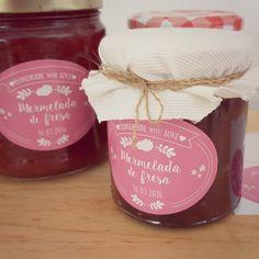 etiquetas personalizadas para mermeladas caseras #mermeladascaseras #etiquetasmermeladas