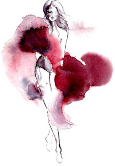 Link to artist work creating fashion drawings- paints, watercolour and black pens Illustration Mode, Fashion Illustration Sketches, Watercolor Illustration, Illustration Example, Ink Illustrations, Watercolor Art Diy, Watercolor Fashion, Watercolor Paintings, Fashion Art