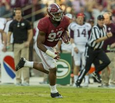 Alabama defensive lineman Jonathan Allen (93) recovers a fumble and returns it for a touchdown to keep the non-offensive scoring streak alive during the second half of Alabama's SEC football game with Texas A&M, Saturday, Oct. 22, 2016, at Bryant-Denny Stadium in Tuscaloosa, Ala.  Vasha Hunt/vhunt@al.com