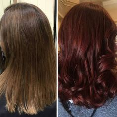 BTC's #transformationtuesday repost your transformations w/ formulas & tag #behindthechair so they show up at the top of our feed! By @mhmakeuphair COLOR FORMULA: #wella Touch 6/75 66/44 & 6/4 w 4.0% @wellahairusa @wellaeducation #burgundyhair by behindthechair_com