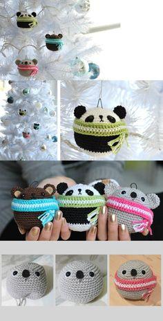 DIY Amigurumi Teddy Ornaments