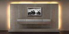 Contemporary TV wall unit / in wood HC66 valentini mobili s.r.l.
