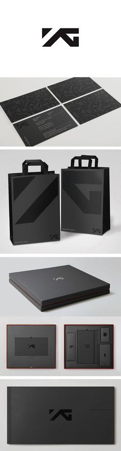 * Identity / YG rebrand beauty in black #packaging #branding PD