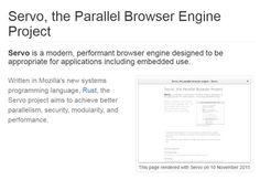 #Navegadores #Internet #lanzamiento Mozilla lanzará nuevo navegador basado en el motor Servo en fase alfa en junio
