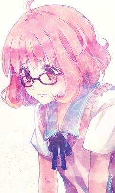 Imagine anime, kyoukai no kanata, and anime girl Miku Chibi, Anime Chibi, Anime Art, Chica Anime Manga, Kawaii Anime Girl, Manga Girl, Mirai Kuriyama, Anime Galaxy, Hirunaka No Ryuusei