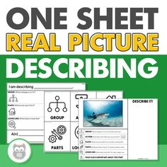 Semantic mapping, or describing different features of item is an effective way to increase vocabulary skills of your students!This resource includes describing visuals, a blank describing/defining worksheet, and 70 one sheet, no-prep describing worksheets. Last, the two graphic organizers in this packet are also included in a Google Sheets™️ format to make teletherapy or distance learning even easier! #speechtherapy #describingactivities #languageactivities #visuals