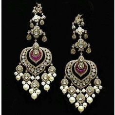 Indian Wedding Jewelry, Bridal Jewelry, India Jewelry, Fine Jewelry, Jewelry Design Earrings, Jewelry Patterns, Antique Jewelry, Jewelry Collection, Jewelery
