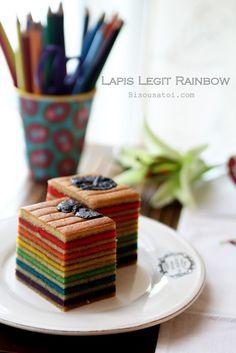 Lapis Legit Rainbow cake