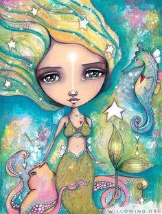 The Little Empowered Mermaid - Art Print