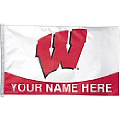 Wincraft Wisonsin Badgers Personalized 3x5 Flag