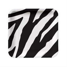 Zebra plates for party