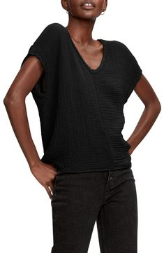 Free shipping and returns on Michael Stars Draya V-Neck T-Shirt at Nordstrom.com. Frayed edges highlight the flattering V-neck of this textured cotton T-shirt.