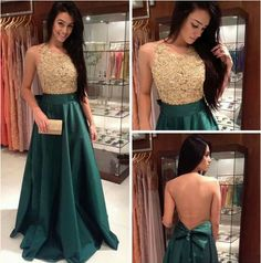 2015 Satin Prom Dresses,Sexy Prom Dresses, A-Line Prom Dresses, Backless Evening Dresses,