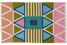 "Aelfie rugs are designed in Brooklyn and handmade by artisans in India. 80% wool, 20% cotton. Spot clean. Vacuum. Due to the nature of handmade goods, colors may differ slightly from the image. For custom orders, please contact us. We ship internationally. Please note, 9'x12' and 2'6""x8' sizes are all made to order and will arrive in 90 days. Sizes are in feet. 2'x3' and 3'x5' sizes are currently backordered but will be in stock before the new year. This rug is like your one friend from…"