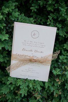 gold lace invitation   Sam Stroud #wedding