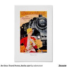 Art Deco Travel Poster, Berlin 1927 Poster