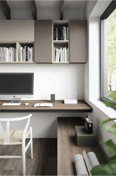 So make sure you design your home office exactly how you want from the perfect colors. See more ideas about Desk, Home office decor and Home Office Ideas. Home Office Storage, Home Office Space, Home Office Decor, Home Decor, Office Interior Design, Office Interiors, Office Designs, Small Office Design, Home Office Inspiration