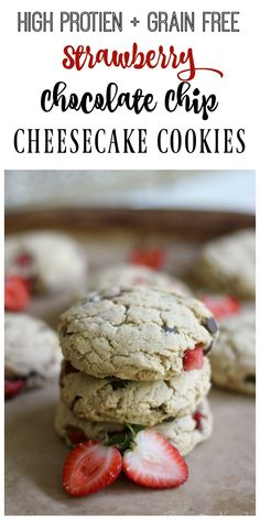 These high protein, grain free, real food Strawberry Chocolate Chip Cheesecake…