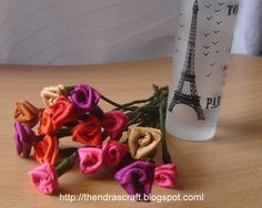KK Arts and Crafts: Fabric roses from scraps