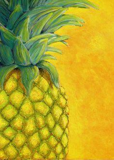 Original Food Painting by Karyn Robinson Pineapple Painting, Pineapple Art, Pineapple Upside Down, Original Art, Original Paintings, Food Painting, Fruit Art, Impressionism Art, Fruit And Veg