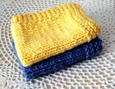 Easy Knit Dishcloth Pattern | Shoregirl's Creations: Knitted Dishcloths