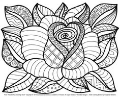 http://ColoringToolkit.com --> Flower coloring page --> If you're in the market for the top coloring books and supplies including gel pens, watercolors, drawing markers and colored pencils, check out our website listed above. Color... Relax... Chill.