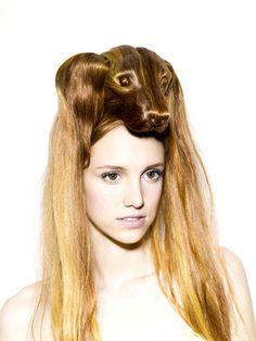 hopefully no animals were hurt in the making of this hairstyle...bleh....Nagi Noda Hair Hats | Dog Milk