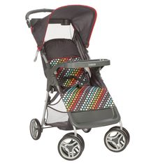Keep your family moving with the Lift & Stroll™ Stroller by Cosco. The stroller lifts to fold with just one hand and a quick pull upward. It's lightweight and compact when folded, making it easy to st