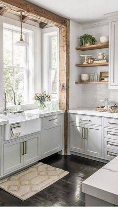Rustic Kitchen Decor, Home Decor Kitchen, New Kitchen, Kitchen Ideas, Kitchen Decorations, Kitchen Sink, Kitchen Art, Kitchen Hacks, Kitchen Counters