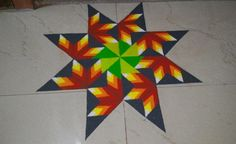 Get colorful holi rangoli designs, try them for holi rangoli competitions. These fresh rangoli designs are simple, latest, beautiful and easy to create. Rangoli Simple, Peacock Rangoli, Rangoli Colours, Rangoli Patterns, Rangoli Ideas, Diwali Rangoli, Flower Rangoli, Rangoli Designs Latest, Latest Rangoli