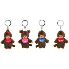 Monchhichi Keyrings. The perfect little friend for the car.