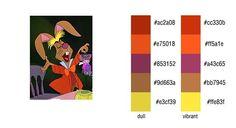 Alice in Wonderland Color Scheme Palette | color #palette #scheme Alice in Wonderland (Disney) - March Hare