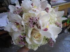 white cymbidium orchid bouquet - Google Search