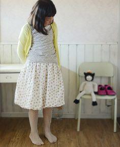 Double gauze bubble skirt tutorial and free pattern : Kokka