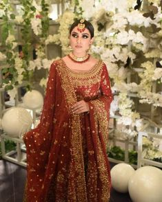 17 Fancy Glam Neckline Designs for All Your Bridal Outfits ShaadiSaga Pakistani Wedding Outfits, Pakistani Wedding Dresses, Bridal Outfits, Indian Dresses, Indian Outfits, Designer Bridal Lehenga, Bridal Looks, Bridal Style, Walima Dress